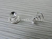 Пружинка основой для украшения . Цвет- Серебро
