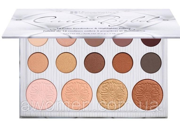 Тіні і хайлайтеры BH Cosmetics Carli Bybel Eyeshadow & Highlighter Palette