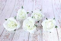 Роза мини (головка), 25 шт/уп, диаметр 3.5 - 4 см, белого цвета оптом, фото 1