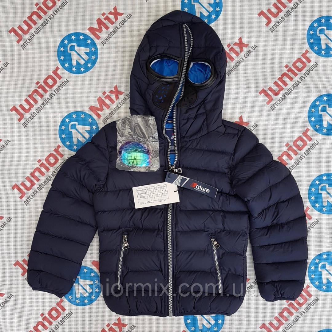 Куртка для мальчика демисезонная  с очками в капюшоне NATURE