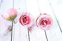 """Ранункулюс (головка) """"Винтаж"""", 3,5 см, 25 шт/уп., цвета """"крем и розовый"""" оптом"""