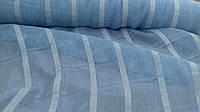 Льняная ткань для штор голубого цвета (шир. 165см)