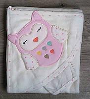 Полотенце уголок Babyline,с капюшоном.принц,принцесса,совы.