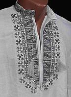 """Рубашка с вышивкой """"Ромчик"""" для детей, домотканое полотно, рост 122-158 см.,"""