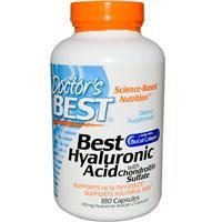 Гиалуроновая кислота с Хондроитин сульфатом и коллагеном Doctor's Best, 180 капсул