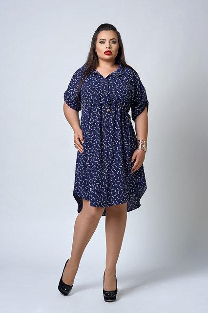 Платье рубашка летнее большой размер