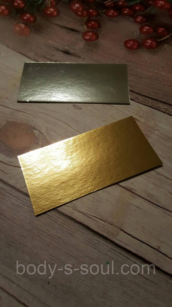 Подложка прямоугольная из плотного картона ,размер 120 мм×60 мм
