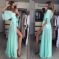 Летнее пляжное платье в цветах