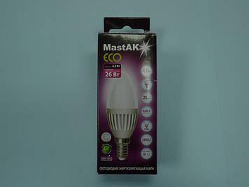 Світлодіодна лампа Mastak CAD03DS ( 4,3 W LED Flame 230V 6400K E14 )