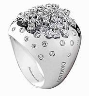 Золотое кольцо 585 проба ,Бриллианты Damiani