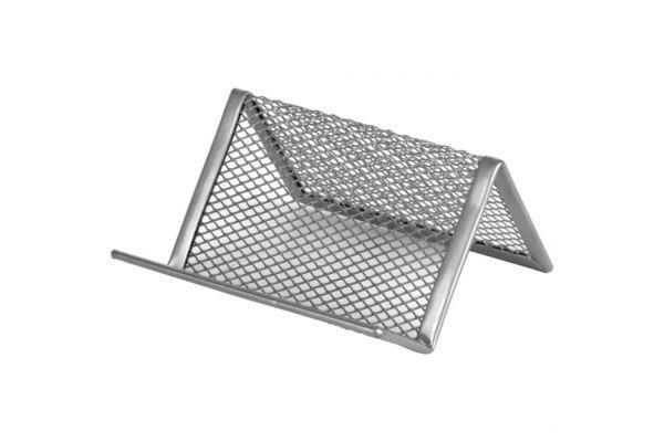 Подставка для визиток металлическая Axent серебро