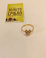 """Кольцо золотое """"Сердце"""" с бриллиантами. Вес 1,78 грамм."""