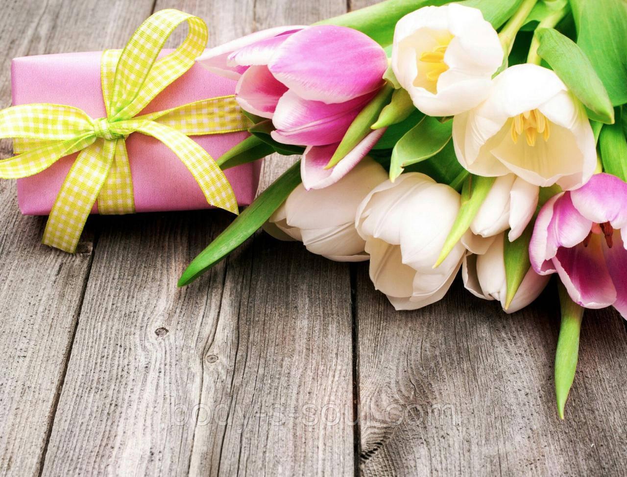 Фотофон виниловый, Подарок, тюльпаны