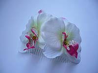 """Гребень """"Орхидея с розовой срединкой"""""""