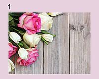 Фотофон виниловый, Розы, серые доски