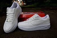 Кроссовки Nike air force белые женские низкие