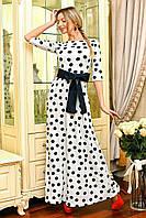 Платье трикотажное в горошек