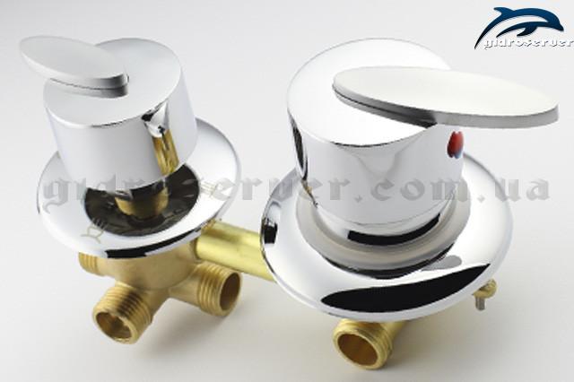 Смеситель для душевой кабины в панель на 4 режима роботы G 4 ― 100 мм вид сбоку.
