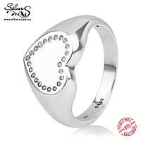 """Серебряное кольцо Пандора (Pandora) """"Печатка с сердцем"""""""
