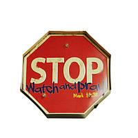 Декоративная табличка [ STOP ]