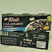 Кальмары в чернилах DIDI, 80 г (Испания)