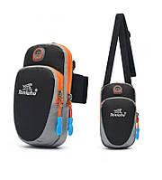 Спортивная сумка для телефона Tanluhu черная, фото 1