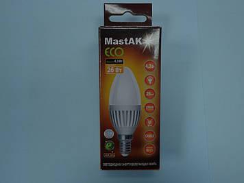 Світлодіодна лампа Mastak CAD03WS ( 4,3 W LED Flame 230V 2700K E14 )