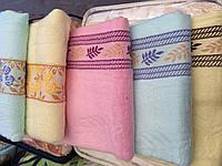 Банное полотенце бамбук ( рисунок колосок)