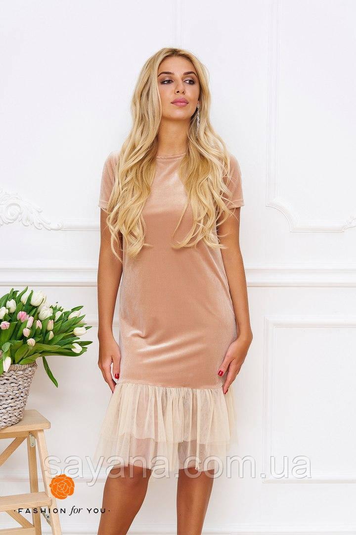 Женское бархатное платье. Тс-10-0617