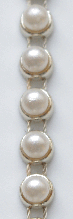 Тасьма пришивная з перлами