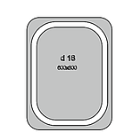 Дзеркало з LED підсвічуванням d-18 настінне, фото 2