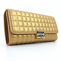 Клатч - сумочка женская кожа PU золото Сhanel 2009