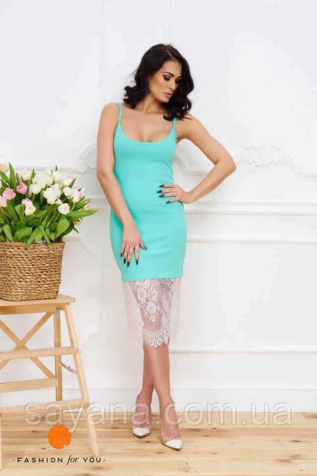 Крутое женское платье с кружевом