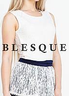 Платье бело-синие