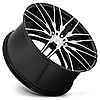 NICHE ANZIO Gloss Black with Brushed Face (R22x11 PCD5x120 ET40 HUB72.56), фото 2