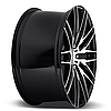 NICHE ANZIO Gloss Black with Brushed Face (R22x11 PCD5x120 ET40 HUB72.56), фото 3