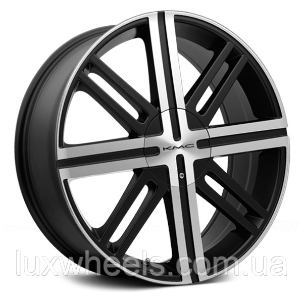 KMC KM675 Satin Black with Machined Face (R20x8 PCD5x114.3 ET48)