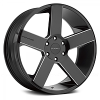 Диски KMC KM690 Satin Black with Milled Accents (R20x8.5 PCD5x150 CB110 ET35)