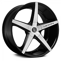 Диски LEXANI R-4 Gloss Black with Machined Face (R20x8.5 PCD5x108 ET35 HUB74.1)