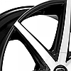 LEXANI R-7 Gloss Black with Machined Face (R20x8.5 PCD5x108 ET35 HUB74.1) , фото 2