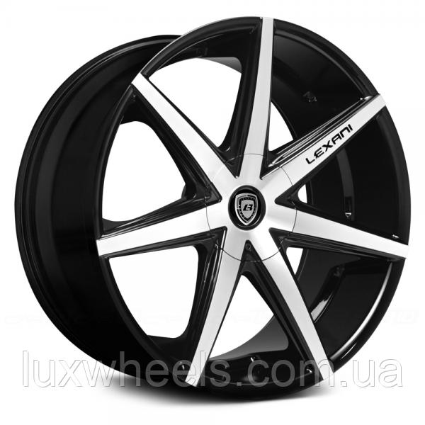 LEXANI R-7 Gloss Black with Machined Face (R20x8.5 PCD5x114,3 ET35 HUB74.1)