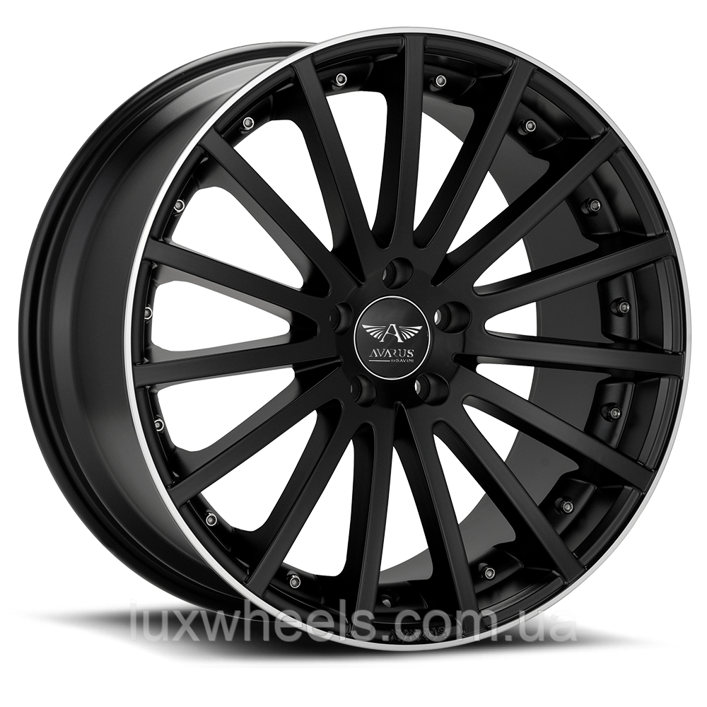 AVARUS AV6 Black with Machined Lip (R19x9.5 PCD5x112 ET45 HUB72.2)
