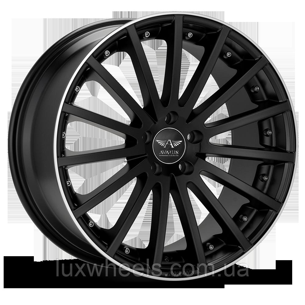 AVARUS AV6 Black with Machined Lip (R20x8.5 PCD5x120 ET32 HUB79.5)