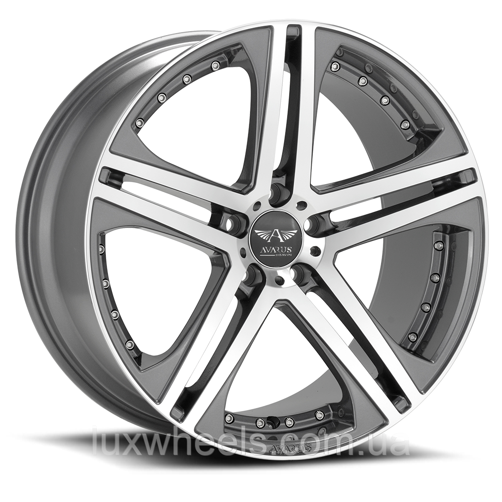 AVARUS AV7 Machined with Antracite Accents (R20x10 PCD5x114.3 ET45 HUB79.5)