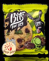 """Печенье сдобное """"Bits"""" с кусочками молочного шоколада и лаймовыми цукатами, 50 гр."""