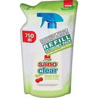 Средство для мытья окон стекла SANO Green 750мл Запаска