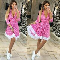 Платье женское AMK861 Платья в горошек