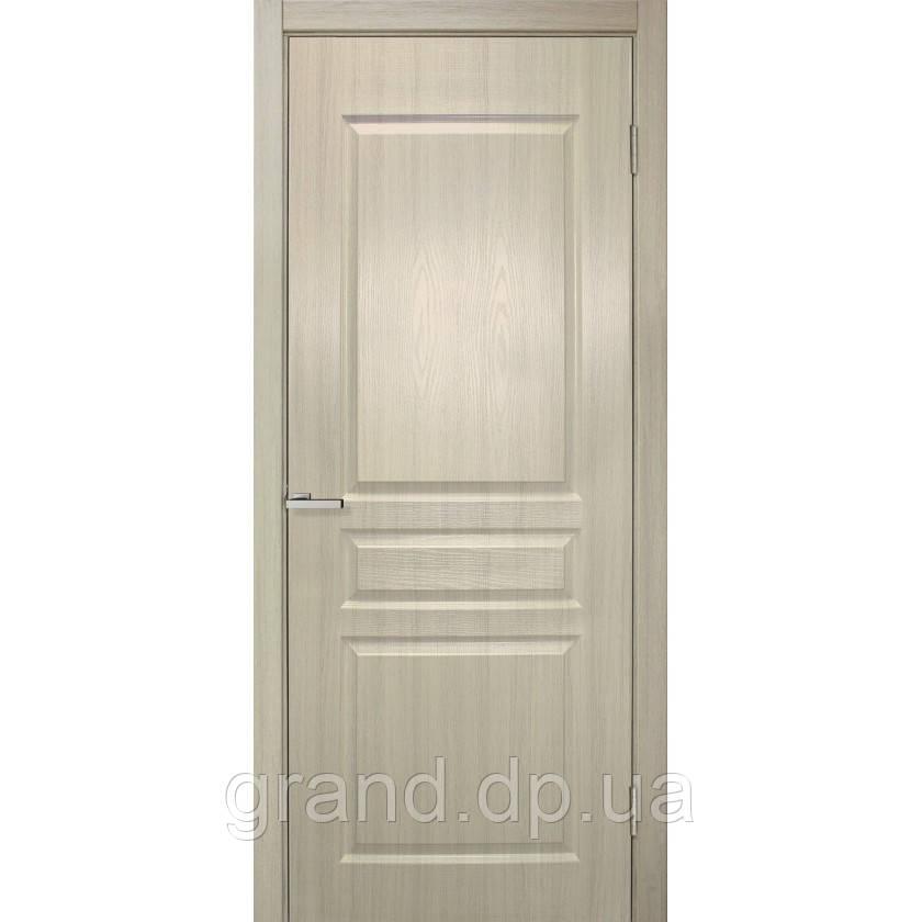 Двери межкомнатные Барселона ПВХ глухая, цвет дуб беленый