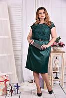 Модное зеленое платье 0554-3