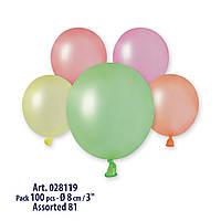 Шары латексные воздушные Gemar пастель неон 3' 8 см бомбочка